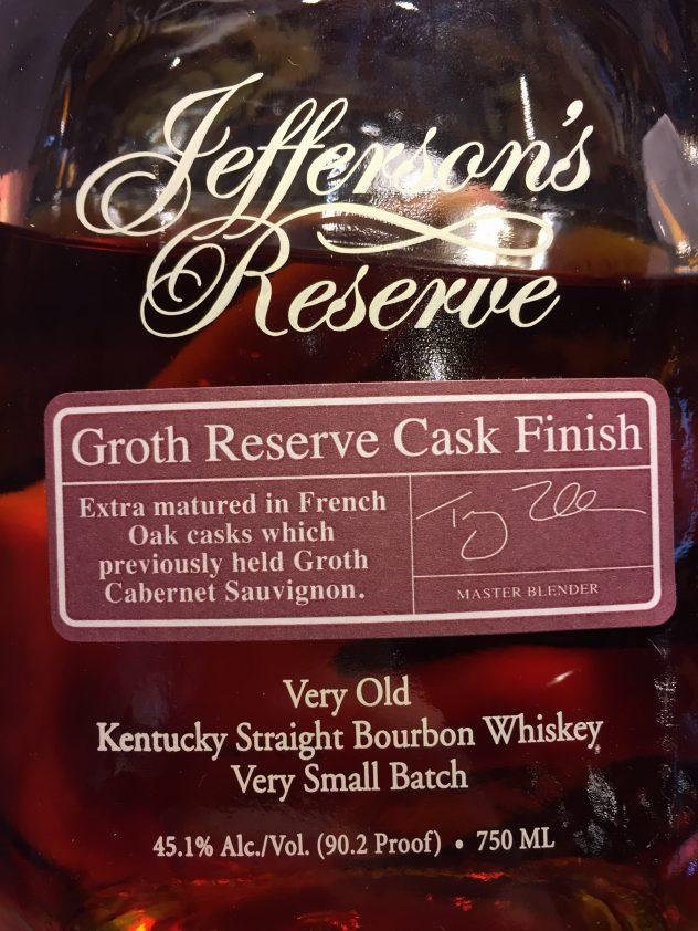 Jeffersons Reserve Groth Reserve Cask Finish