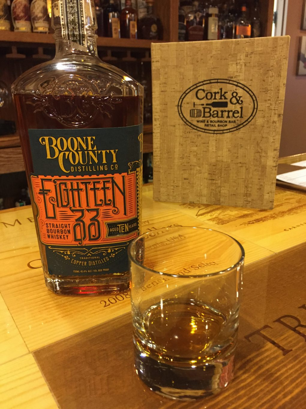 Eighteen 33 Straight Bourbon Whiskey