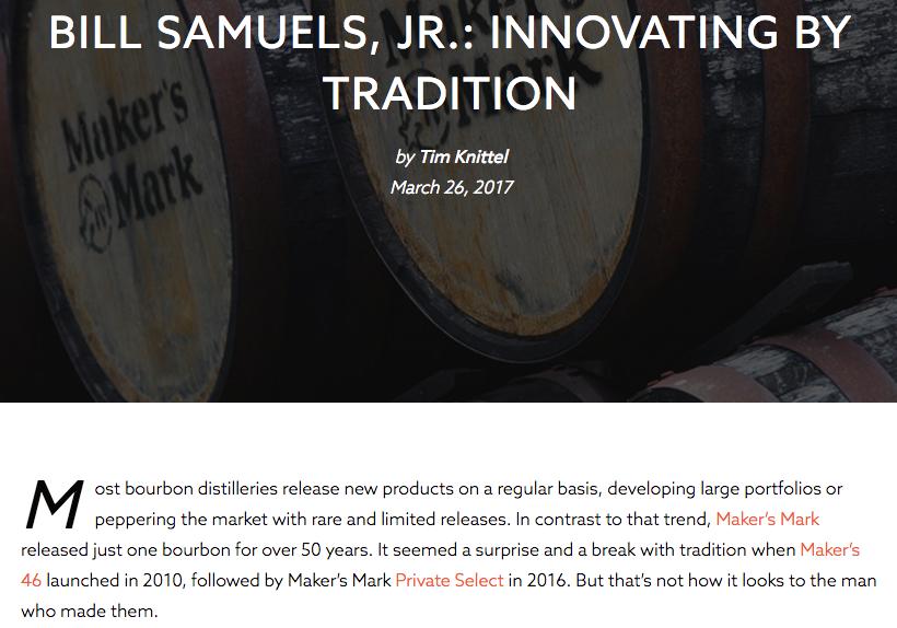 Distiller.com • Bill Samuels, Jr. Article