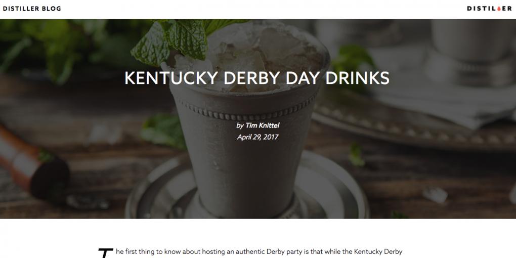 Kentucky Derby Day Drinks Article • Distiller.com