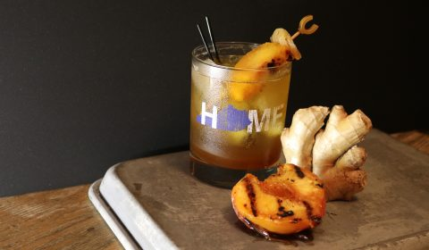 Bourbon Ginger Peach Shrub